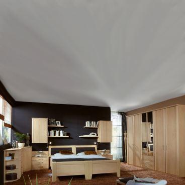 Wiemann Luxor 3+4 Schlafzimmer 2 Komfortbetten Drehtürenschrank 2  Nachtschränke Beimöbel 2 Hängeschränke Wandboards Farbausführung wählbar