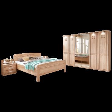 Wiemann Cortina Schlafzimmer Komfortbett Drehturenschrank Nachtschrank