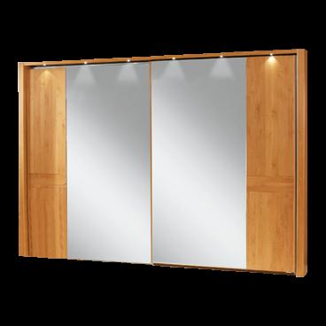 Wiemann Lausanne Schwebetürenschrank Schlafzimmer Kleiderschrank wählbar in  Erle oder Birke teilmassiv Breite wählbar