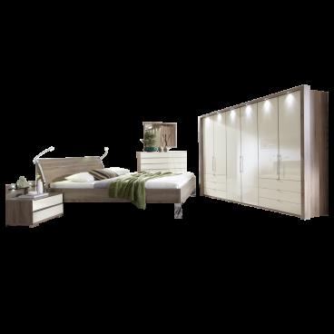 Wiemann Loft Schlafzimer Set 4-teilig in Trüffeleiche-Nachbildung