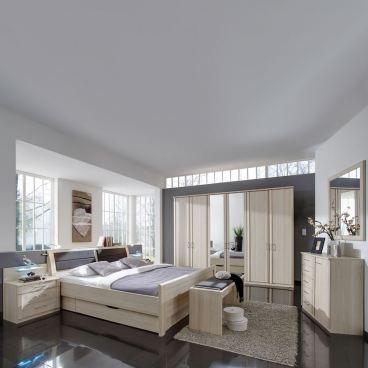 Relativ Wiemann Luxor 3+4 Schlafzimmer Doppelbett Bettkasten Drehtürenschrank EM99