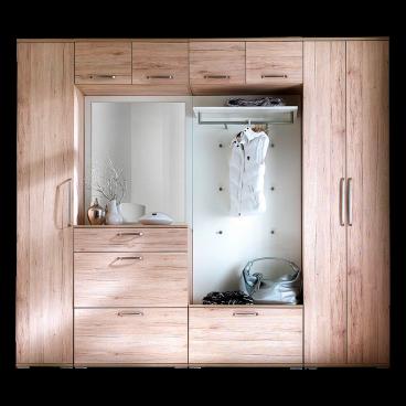 Wittenbreder Garderoben Set 8 Tlg Im Dekor Sonoma Eiche Weiß Matt