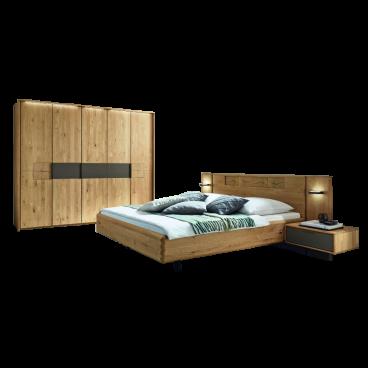 Wöstmann WSM 1600 Schlafzimmer 2-teilig Europ. Wildeiche Massivholz