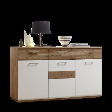 Wohn Concept Modernes Sideboard In Weiss Matt Mit Hirnholz Optik