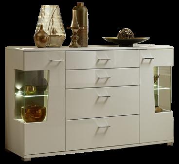 Wohn Concept Modernes Sideboard In Weiß Hochglanz Terra Hochglanz Mdf