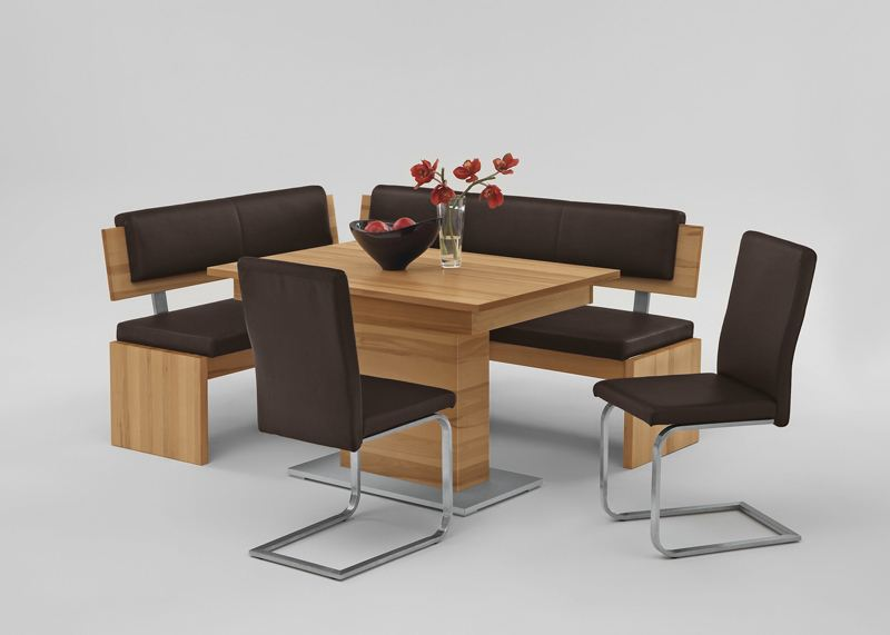 Niehoff Nina Essgruppe Für Esszimmer Speisezimmer Mit Eckbank,  Schiebeplattentisch Und 2x Stühle