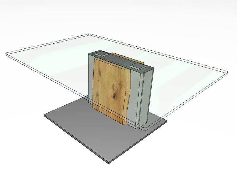 Gwinner Couchtisch Mit Glasplatte In Zwei Grossen Wahlbar