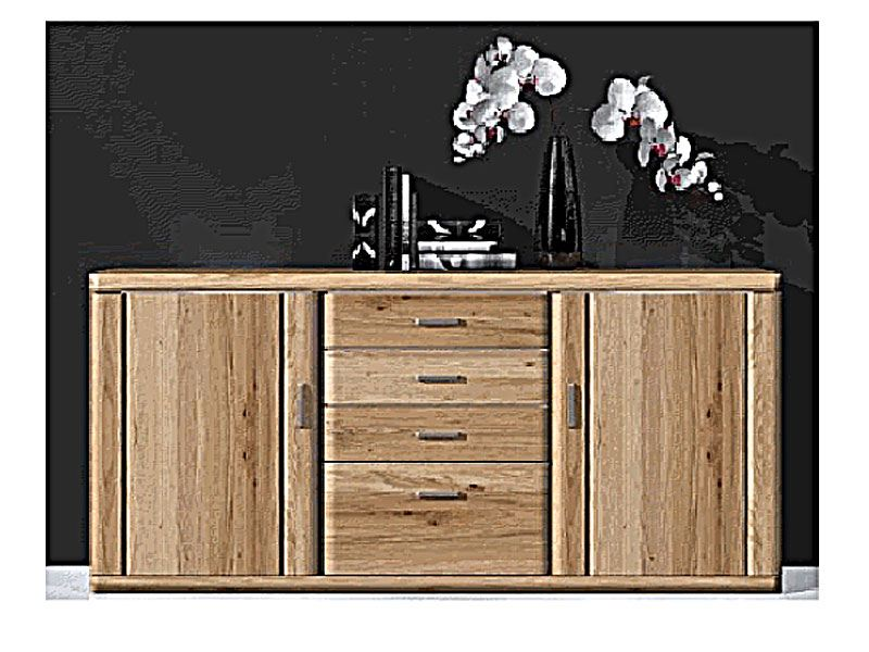ideal m bel bruel sideboard passend zu wohnkombination f r wohnzimmer wohnwand front in eiche. Black Bedroom Furniture Sets. Home Design Ideas