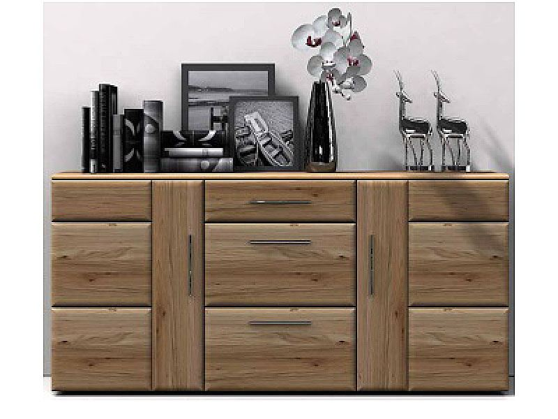 Ideal Mobel Wora Sideboard Front In Eiche Bianco Lamelle Massivholz