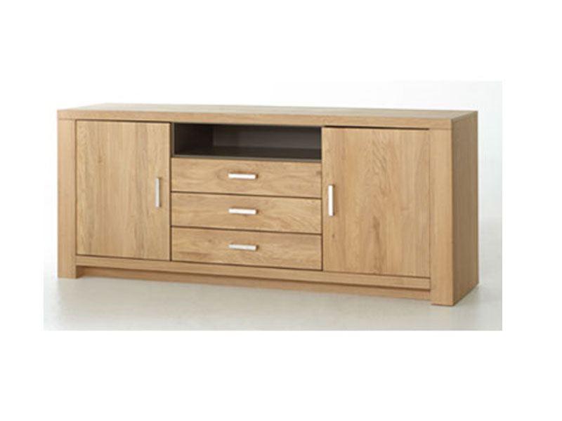 mca furniture prato sideboard pra11t01 front eiche bianco durchgehende lamellen massiv geolt korpus aussen eiche bianco