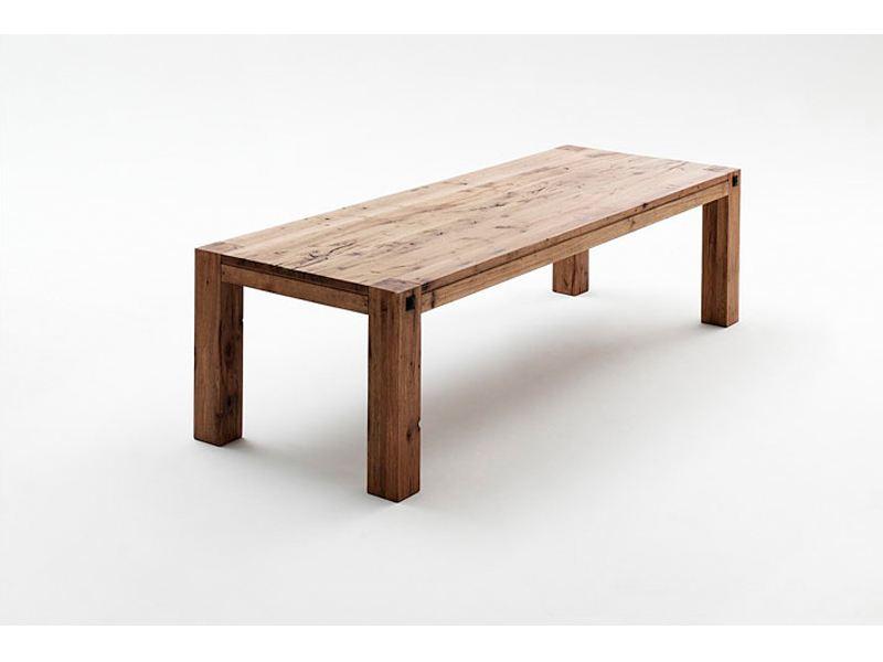 MCA Möbel Furniture Tisch Leeds Vierfusstisch Esstisch In Eiche Verwittert,  Bassano, Gekälkt Und Wildeiche