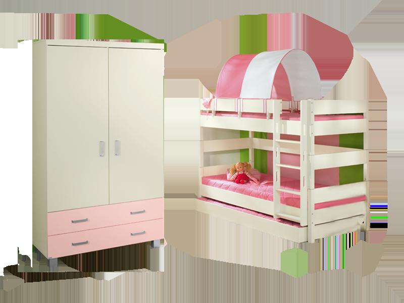 paidi biancomo etagenbett mit kleiderschrank und g stebett. Black Bedroom Furniture Sets. Home Design Ideas