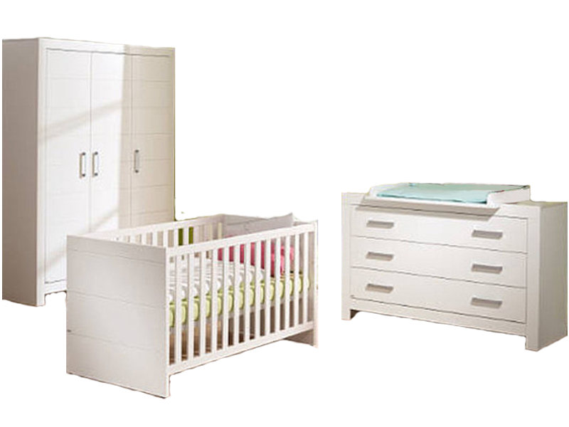 paidi fiona babyzimmer in traumhaft sch nen kreidewei. Black Bedroom Furniture Sets. Home Design Ideas