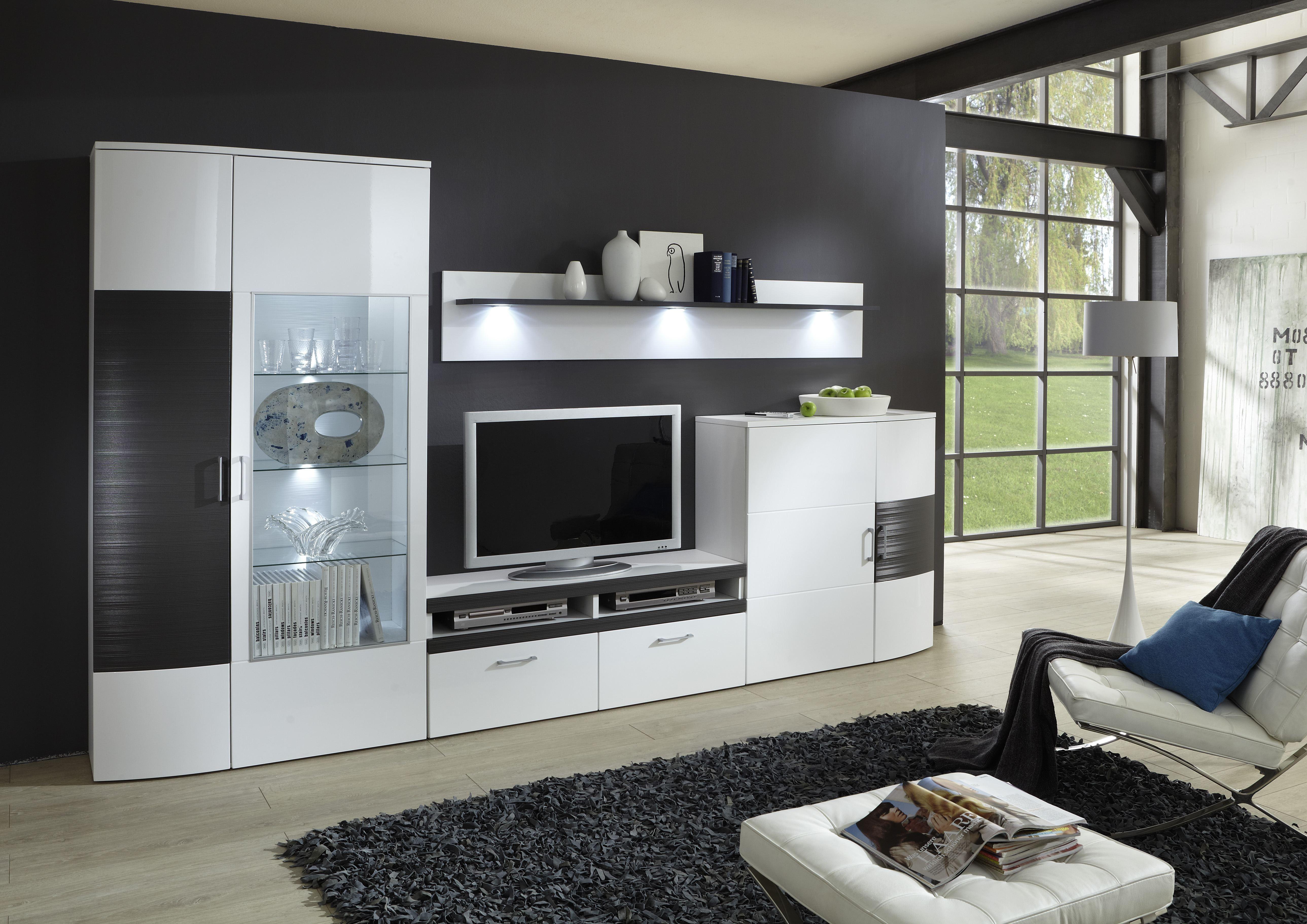 IDEAL-Möbel Wohnwand Stina In Verschiedenen Ausführungen