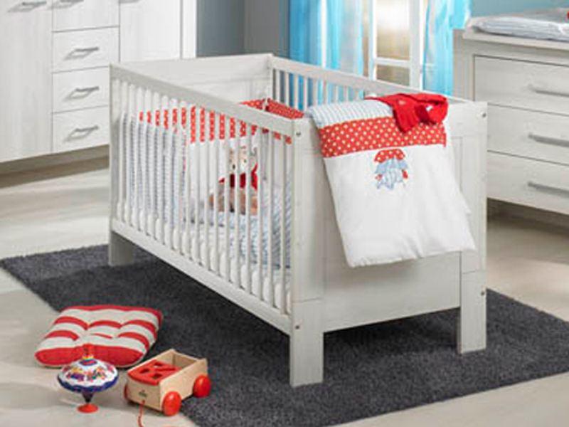 Paidi Babyzimmer Mees Scandic Wood Weiß Nachbildung