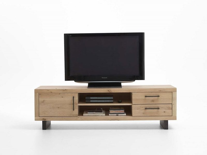 bodahl tv bank massiv wild oak mit zwei schubladen und f chern. Black Bedroom Furniture Sets. Home Design Ideas