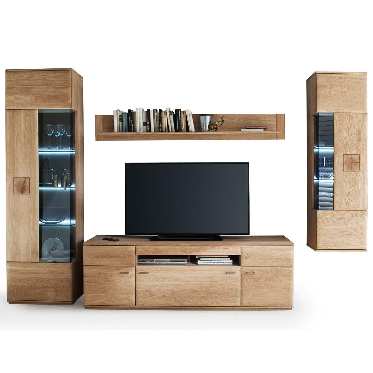 kostenlose lieferung ins deutsche festland mca furniture bologna wohnwand 2 art nr bol11w02 oberflache geolt front eiche bianco massivholz