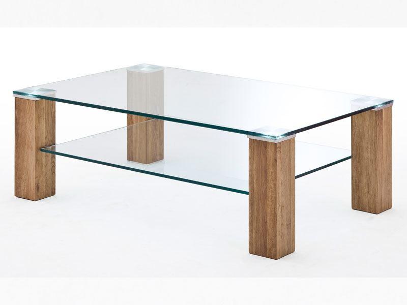 Mca Alma Couchtisch Ii 110 Mit Glasplatte Und Glasablage