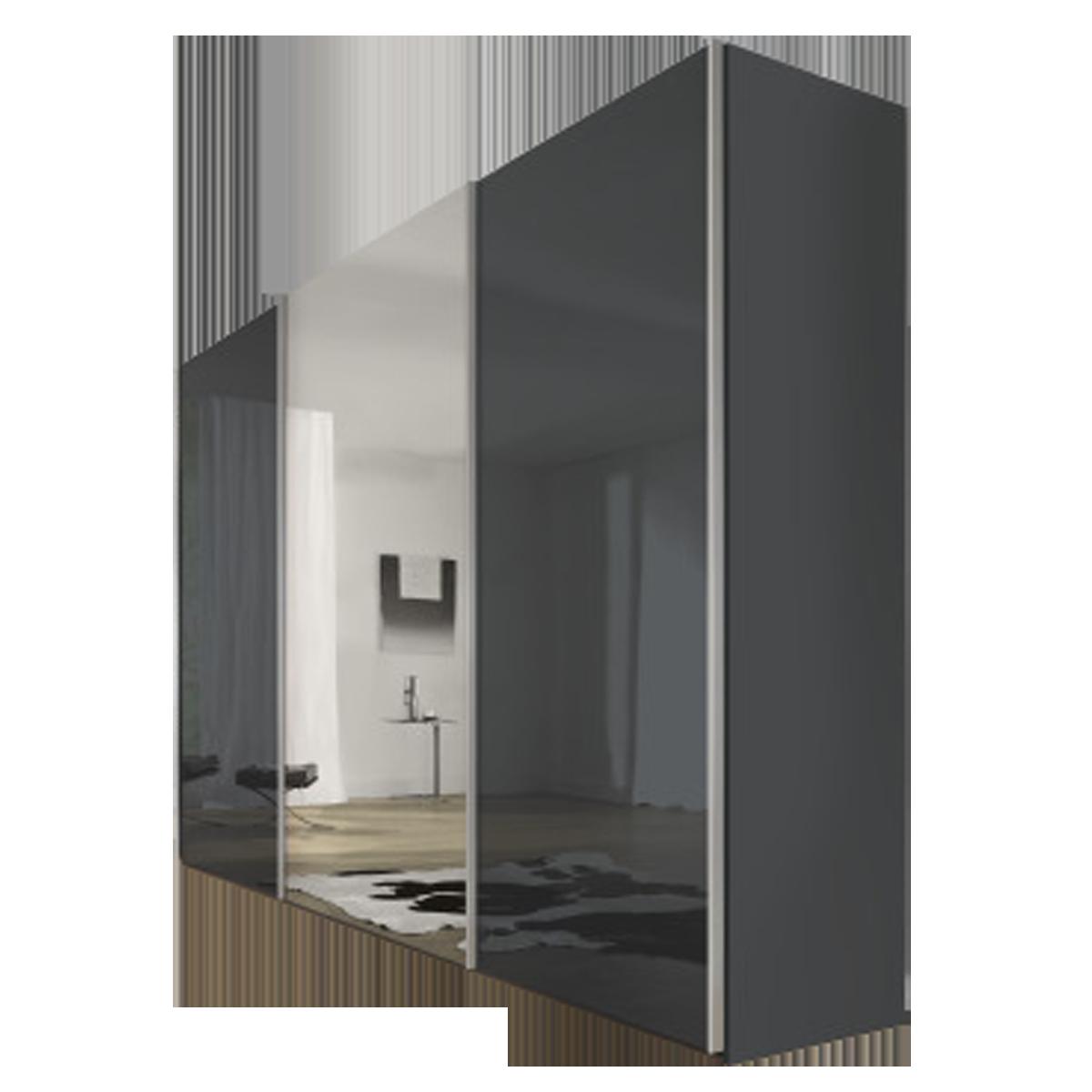 Nolte Möbel Savena / Evena Schwebetürenschrank Korpus in Dekor mit  Glasfront und Kristallspiegel Größe und Farbausführung wählbar optional mit  ...