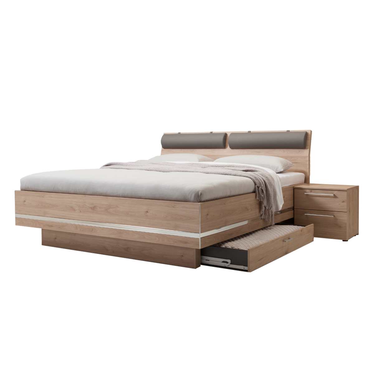 Nolte Möbel Concept Me 500 Bettanlage mit Bettkästen in Jackson-Eiche