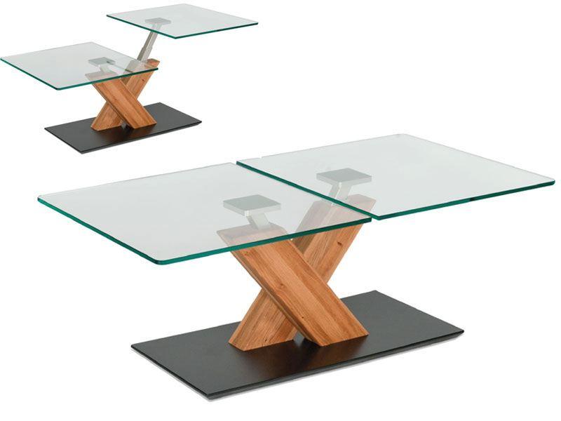 lift couchtisch vierhaus 1627 mit zwei glasplatten. Black Bedroom Furniture Sets. Home Design Ideas