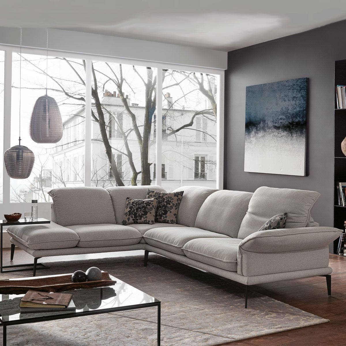 w schillig ecksofa sherry 24600 in l form mit. Black Bedroom Furniture Sets. Home Design Ideas