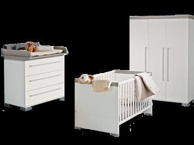 kinderzimmer paidi ylvie 3 teilig in wei birke nachbildung erweiterbar. Black Bedroom Furniture Sets. Home Design Ideas