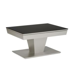 Eve collection Couchtisch Trentino II Deluxe mit Höhenverstellung mit Fußauslöser Wohnzimemrtisch mit furnierter Holzplatte und wählbarer Größe und