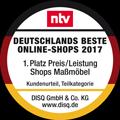 Deutschlands beste Online-Shops 2017 1. Platz Preis/Leistung Shops Maßmöbel Kundenurteil, Teilkategorie