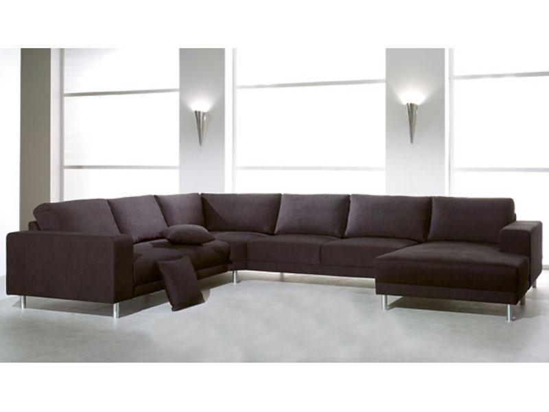 Candy Wohnlandschaft Modesto Base/Modesto Ottomane+Sofa 2 Sitzer ...