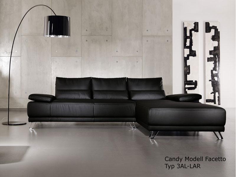 Candy Ecksofa Facetto Sofa 3 Sitzer+ Longchair Polsterecke ...
