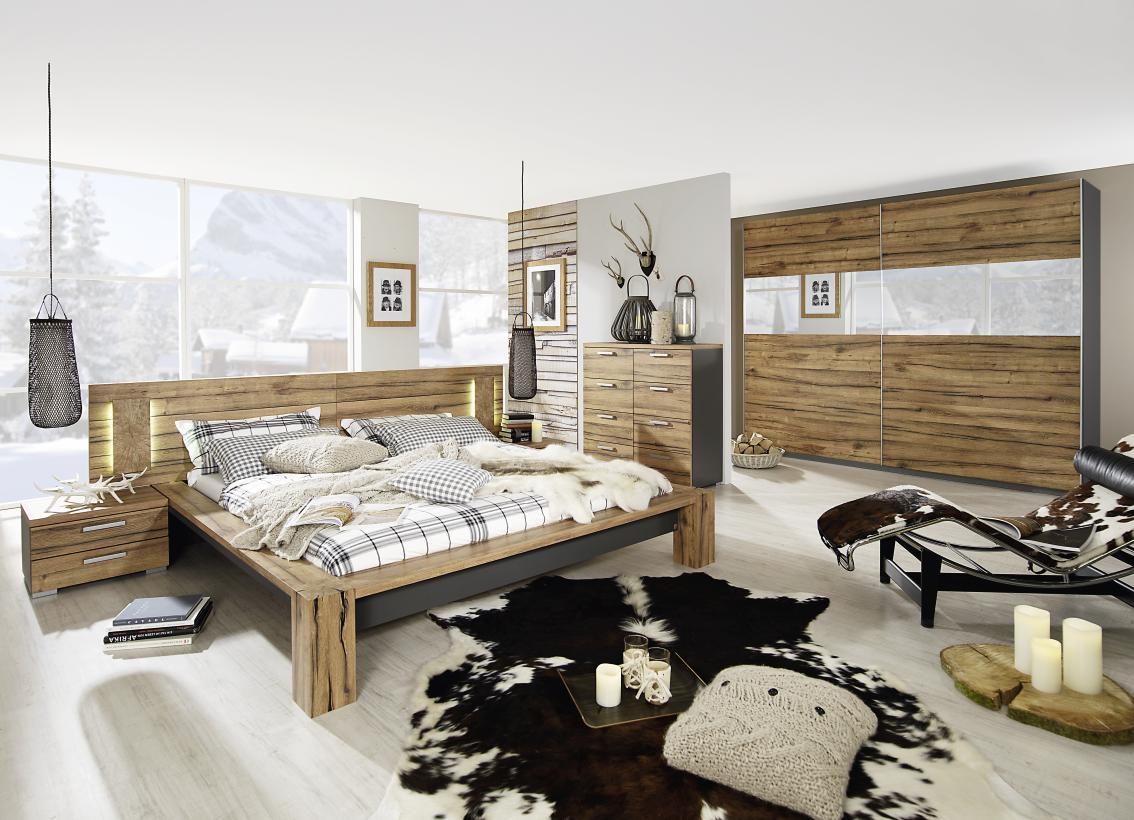 rauch select davos komplettes schlafzimmer 5tlg dekor druck farbe w hlb ebay. Black Bedroom Furniture Sets. Home Design Ideas