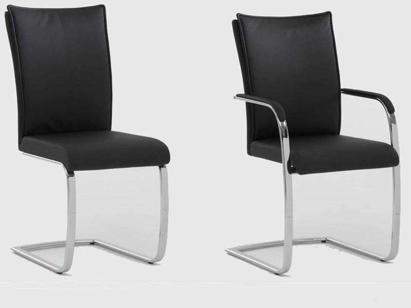 Niehoff stuhl freischwinger 7761 oder 7762 kunstleder for Stuhl mit armlehne kunstleder