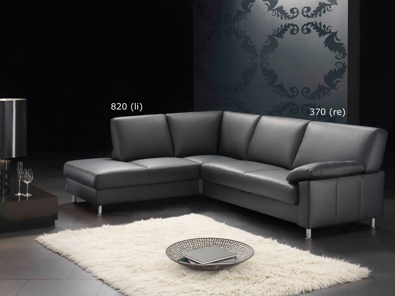 florenz ewald schillig ecksofa sofa 3 sitzer anbausofa mit festem hocker in stoff oder leder. Black Bedroom Furniture Sets. Home Design Ideas