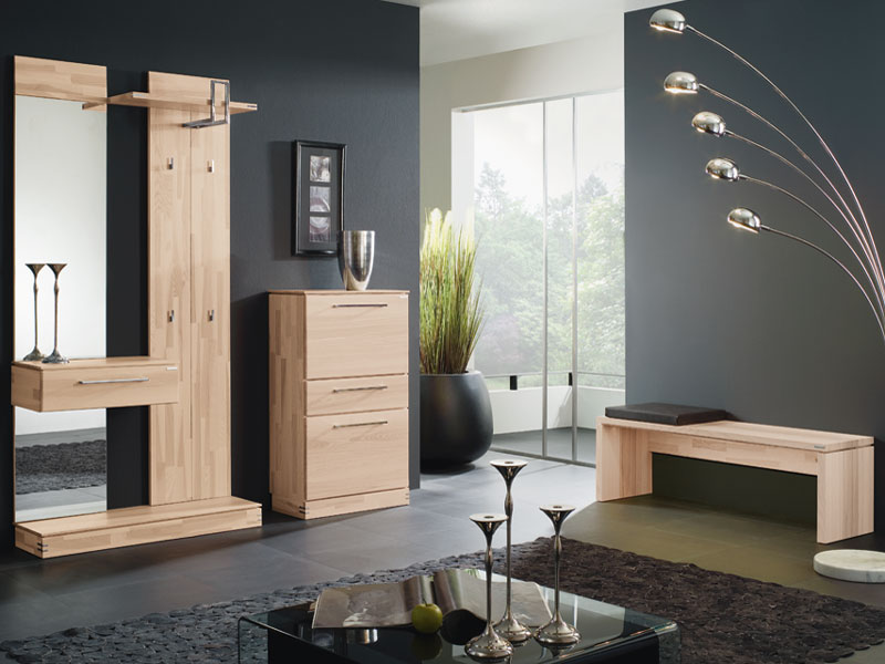 bienenm hle terra garderobe in kernesche voll massiv kompaktgarderobe schuhschrank und sitzbank. Black Bedroom Furniture Sets. Home Design Ideas