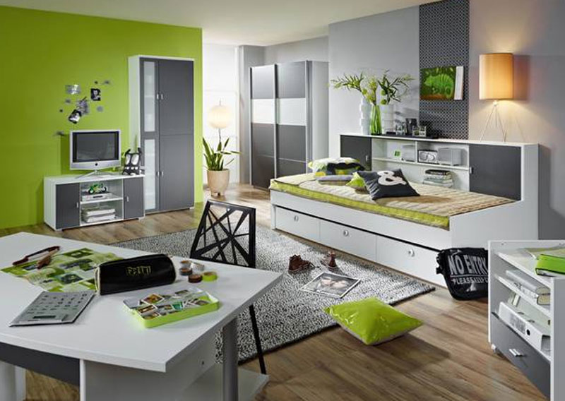 rauch chica jugendzimmer 3 teilig kleiderschrank umbauliege rollcontainer ebay. Black Bedroom Furniture Sets. Home Design Ideas
