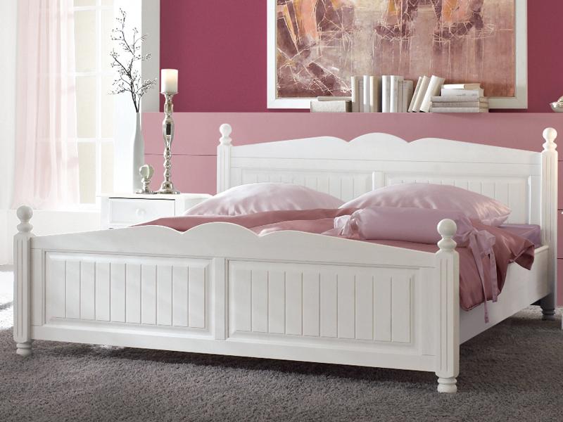 bett cinderella kiefer teilmassiv wei schlafzimmer ebay. Black Bedroom Furniture Sets. Home Design Ideas