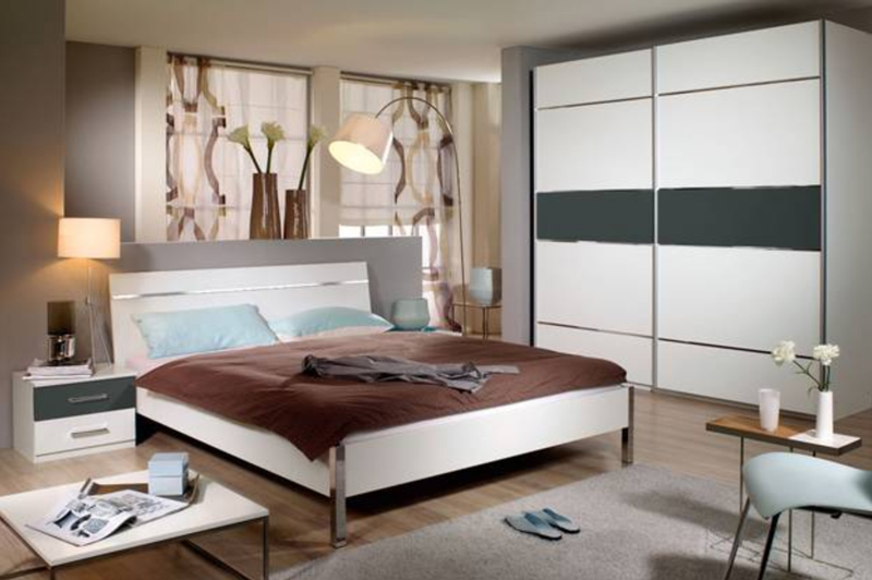 packs rauch cretone color schlafzimmer bett nachtkonsolen kleiderschrank neu ebay. Black Bedroom Furniture Sets. Home Design Ideas
