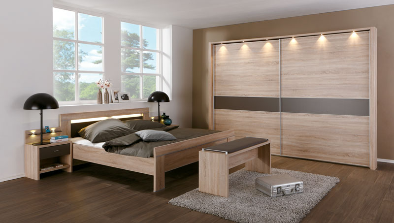 schlafzimmer donna wiemann bett schwebet renschrank ab havanna eiche s gerau nb ebay. Black Bedroom Furniture Sets. Home Design Ideas