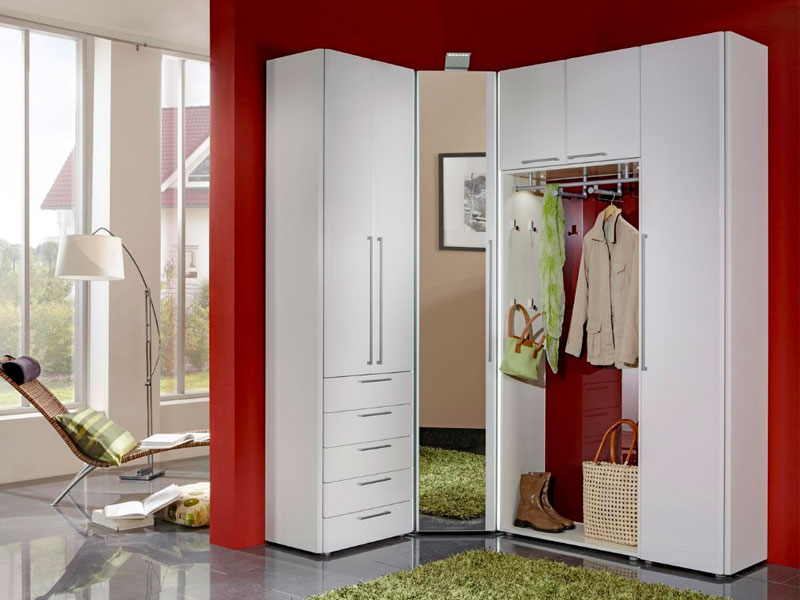 wittenbreder entree komplette garderobe in weiss lack g nstig online kaufen. Black Bedroom Furniture Sets. Home Design Ideas