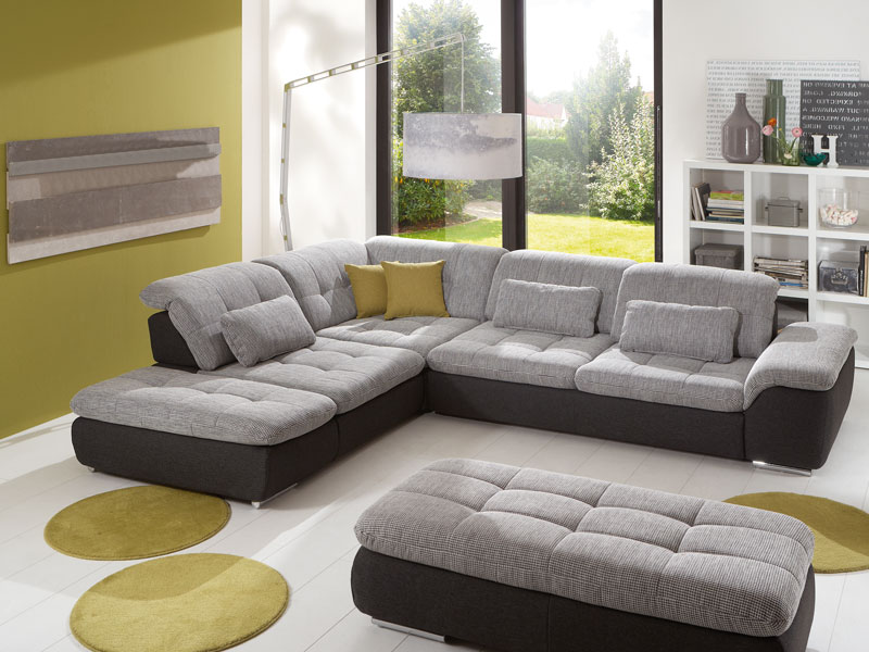 megapol wohnlandschaft sofa imago isola eckgarnitur mit querschl fer w hlbar ebay. Black Bedroom Furniture Sets. Home Design Ideas