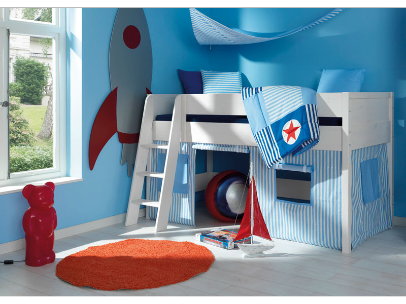 wellem bel spielbett jugend cielo bett f r jugendzimmer kiefer massiv weiss neu ebay. Black Bedroom Furniture Sets. Home Design Ideas