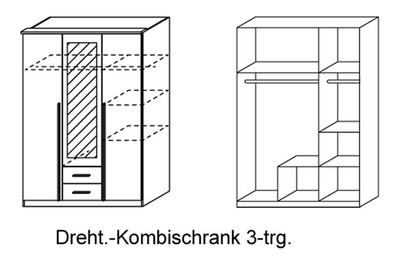 kleiderschrank krefeld rauch dreht renschrank mit absetzung farben gr e w hlbar ebay. Black Bedroom Furniture Sets. Home Design Ideas