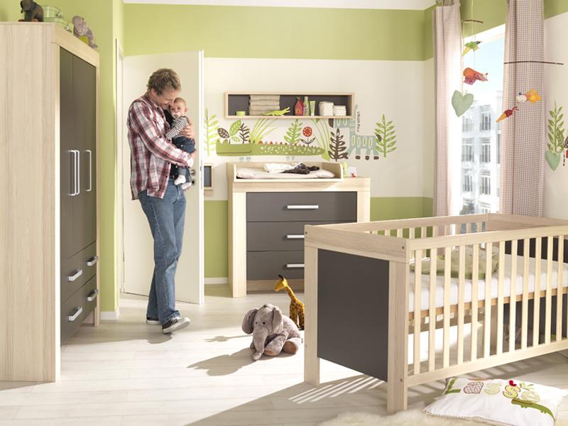 babyzimmer lasse von wellem bel korpus in esche coimbra struktur front w hlbar ebay. Black Bedroom Furniture Sets. Home Design Ideas