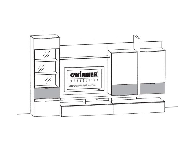 Gwinner Loreto Wohnwandkombination LO1 Ausführung Lack