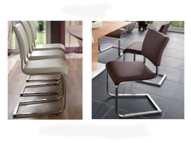 niehoff stuhl freischwinger 5561 esszimmerstuhl in kunstleder oder leder ebay. Black Bedroom Furniture Sets. Home Design Ideas