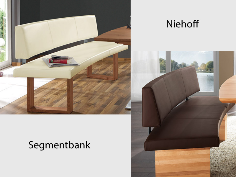 niehoff luna segmentbank sitzbank f r esszimmer leder. Black Bedroom Furniture Sets. Home Design Ideas