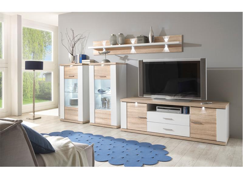 Ideal Möbel Wohnwand Manhattan Kombination15b In Verschiedenen