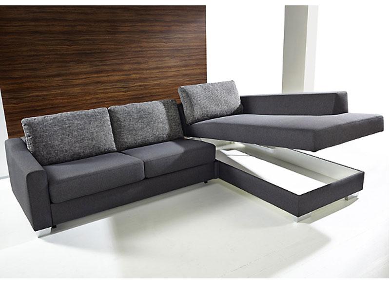 marlen schlafsofa mit longchair f r wohnzimmer oder ferienwohnung bei. Black Bedroom Furniture Sets. Home Design Ideas