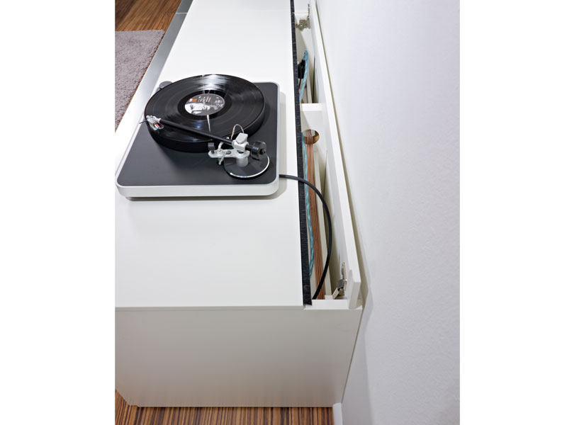 loddenkemper media3000 wohnwand modell 9750 lack bianco wei front w hlbar ebay. Black Bedroom Furniture Sets. Home Design Ideas